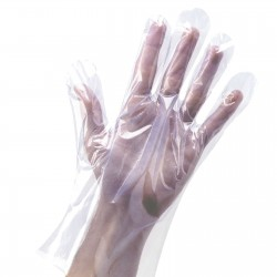 10x Polythene Gloves. Disposable.